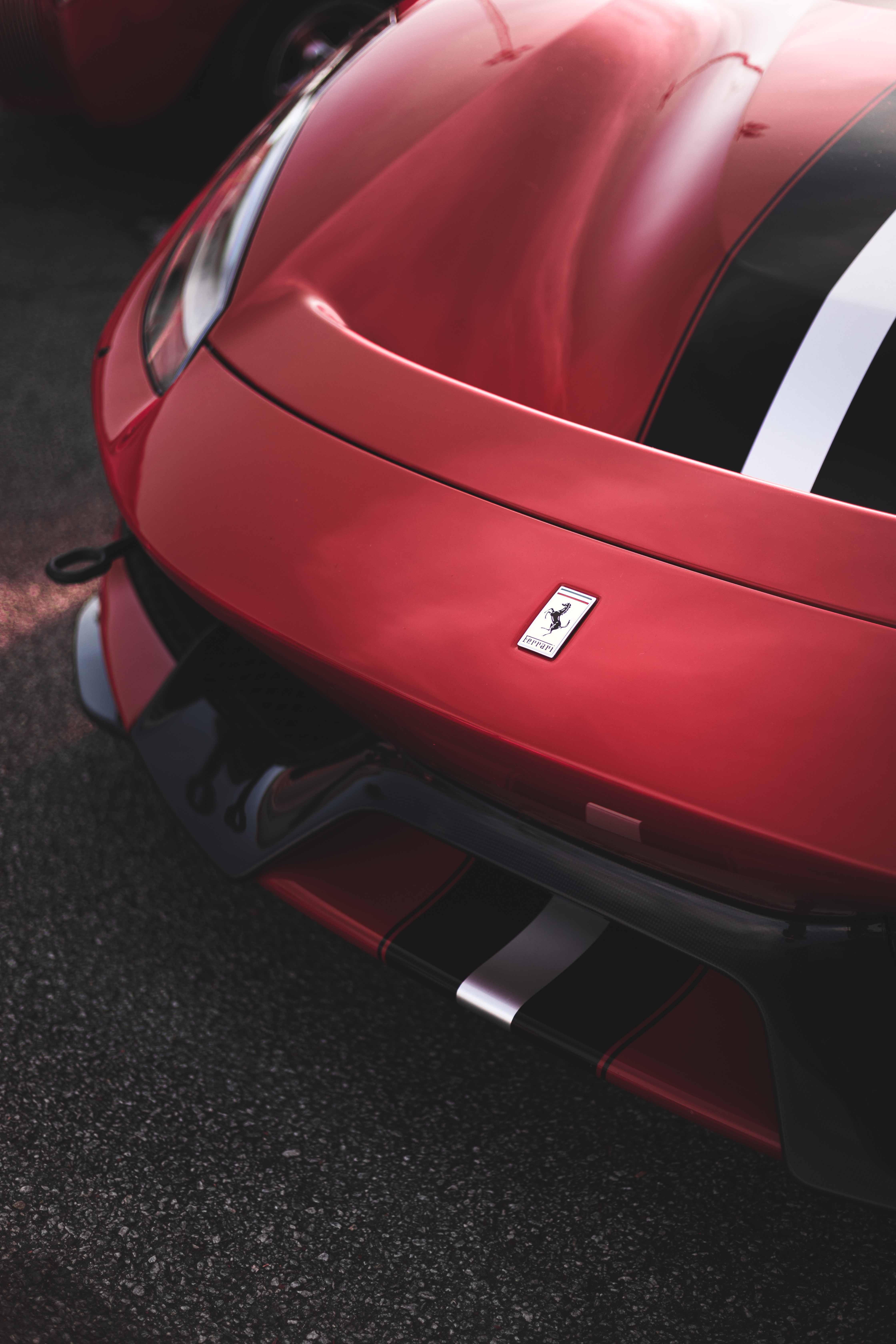 Red Ferrari 488